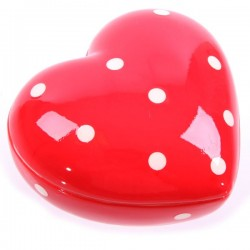 Heart Shaped Trinket Box Red