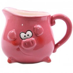 Pink Piggy Milk Jug