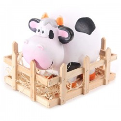 Cow in Wooden Crate