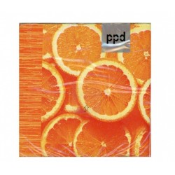 Cocktail Napkins - Orange - PPD