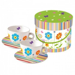 Set of 2 cups - Fun Floral - PPD