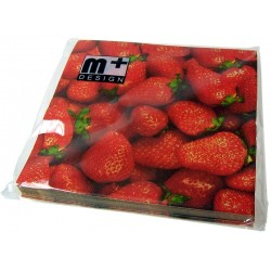 Napkins - Strawberries - m+ Design