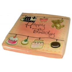Napkins - Happy Birthday - m+ Design
