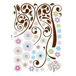 Wall Art Sticker - Funky Tree
