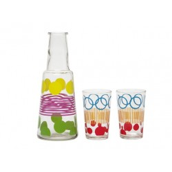 Carafe with 2 glasses - Dots & Stripes - PT