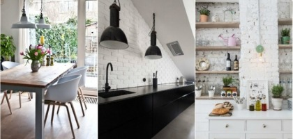 Whiteness and brick as a recipe for a modern interior